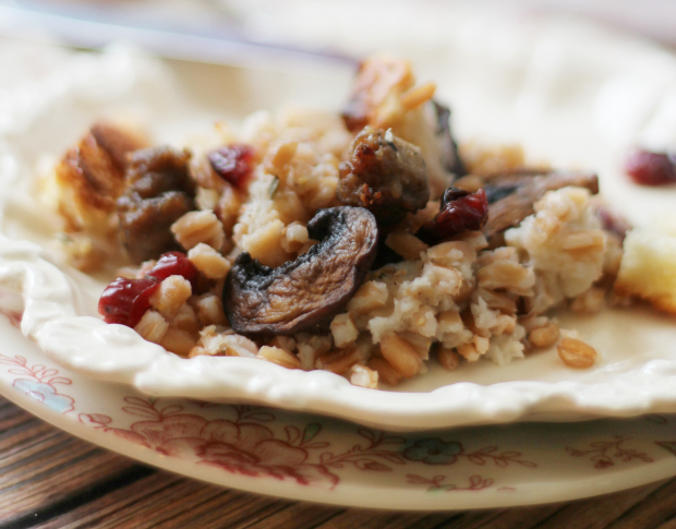 Try this and you will never go back to plain bread stuffing again.
